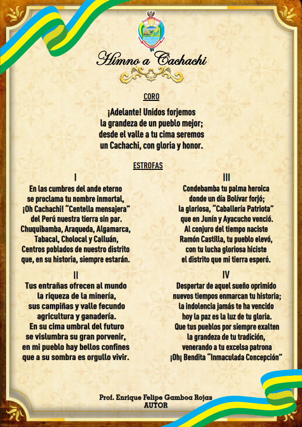 HIMNO A CACHACHI