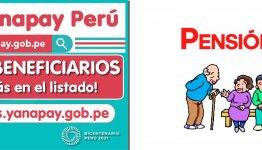 BENEFICIARIO DEL BONO YANAPAY Y PENSION 65